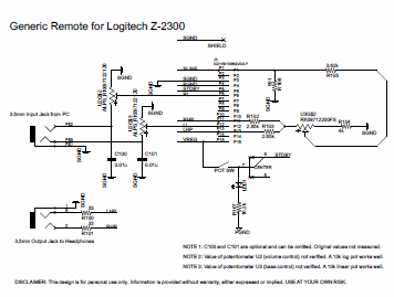 z2300Schematic logitech z 2300 remote control pod disassembly blog jseaber com logitech z 2300 remote wiring diagram at couponss.co