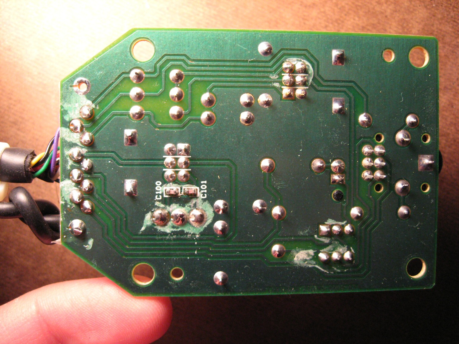 "logitech z 2300 remote control pod disassembly blog jseaber com the pcb silkscreen provides wiring labels for all 9 wires plus 1 shield "" wire"" of course you d have to open the pod up yourself and use a continuity"