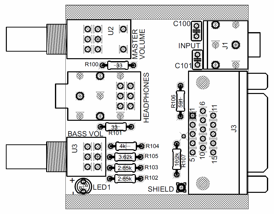 Logitech Z 2300 Remote Control Pod Disassembly Printed Circuit Board Schematics Top View Of